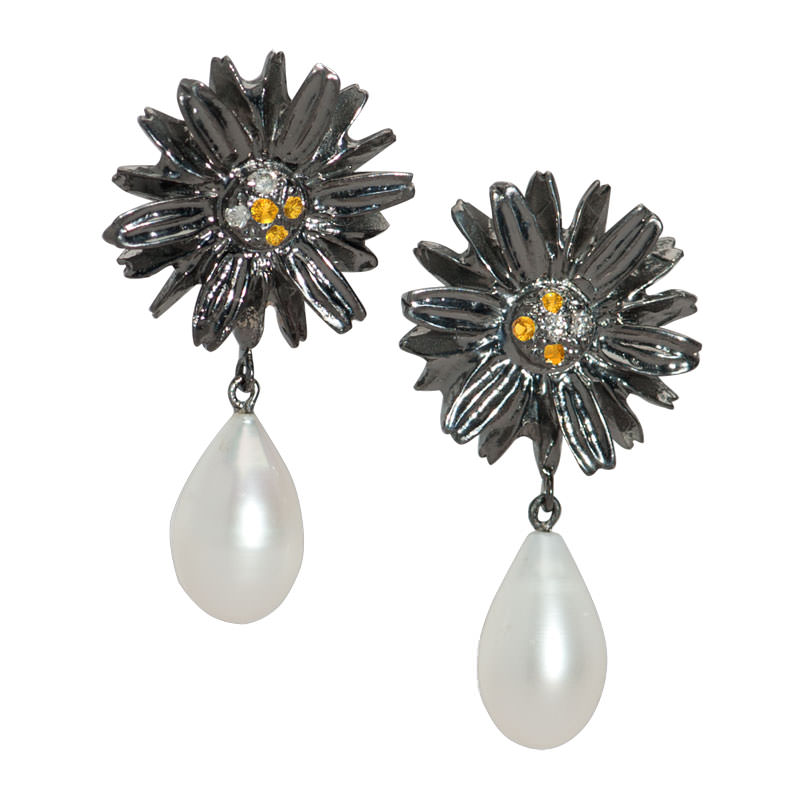 The Double Daisy Earrings
